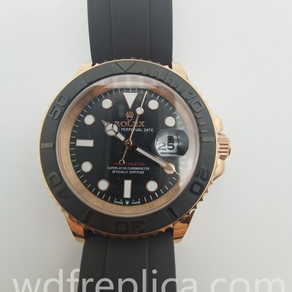 Rolex Yacht-master 116655 40mm Men 18k Everose Gold And Black Watch