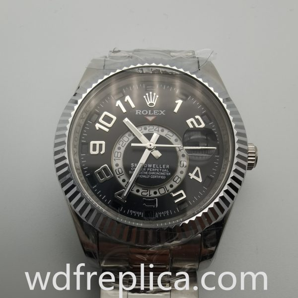 Rolex Sky Dweller 326938 42mm Black Dial And White Gold For Men Watch