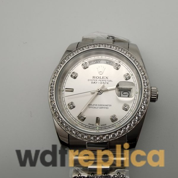 Rolex Day-date 118346 36mm Stainless Steel Silver Gray Dial For Men Watch