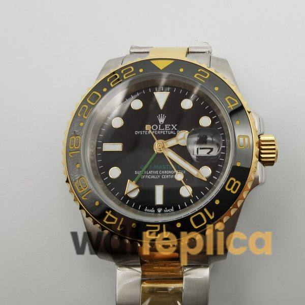 Rolex Gmt-master 16753 40mm Stainless Steel 18k Yellow Gold And Black For Men