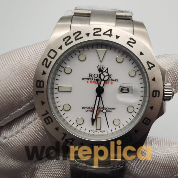 Rolex Explorer 216570 42mm Silver Bracelet And White Dial For Men Watch