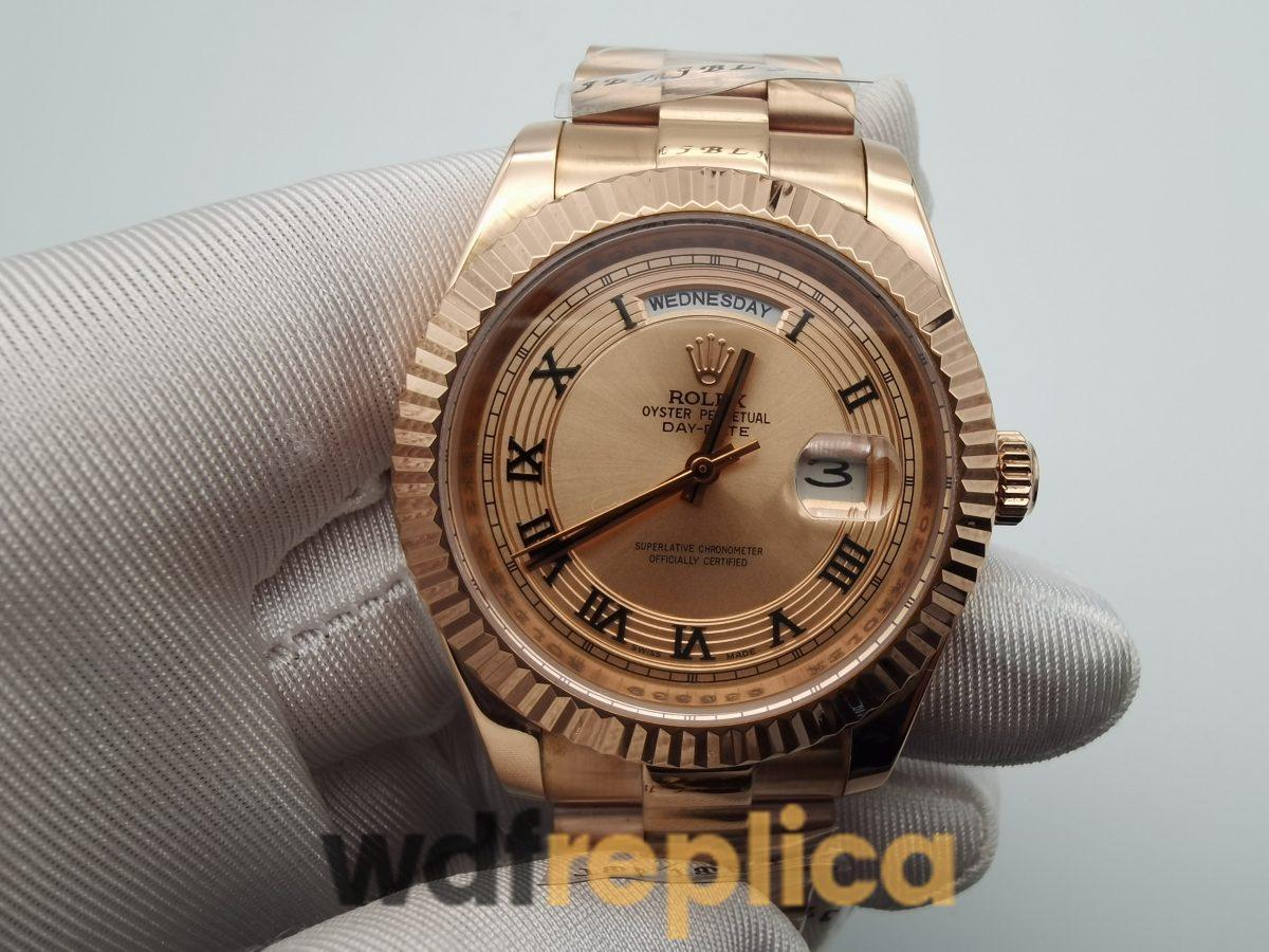 Rolex Day-Date 218235 41mm For Men Rose Gold Bracelet Watch