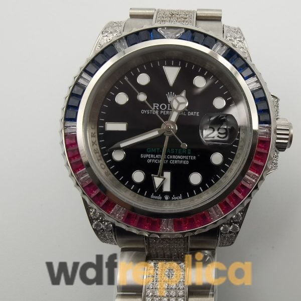 Rolex Gmt-master 116759 For Men 18k White Gold With Diamonds 40mm Watch