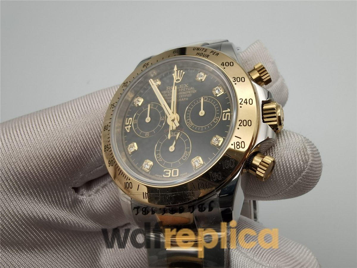 Rolex Daytona 116503 Black Dial And Stainless Steel & Yellow Gold 40mm For Men Watch