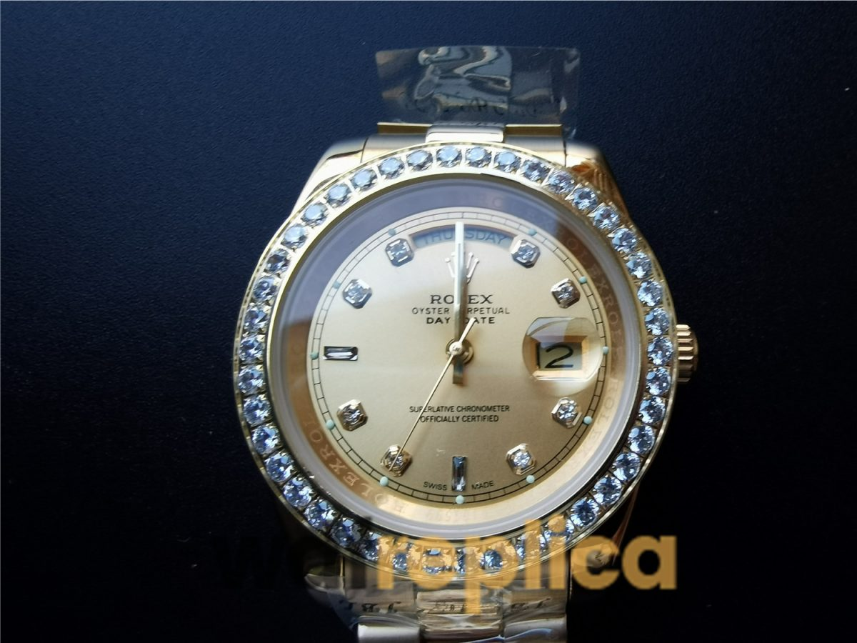 Rolex Day-Date 128348rbr Champagne Dial And Yellow Gold For Men 36mm Watch