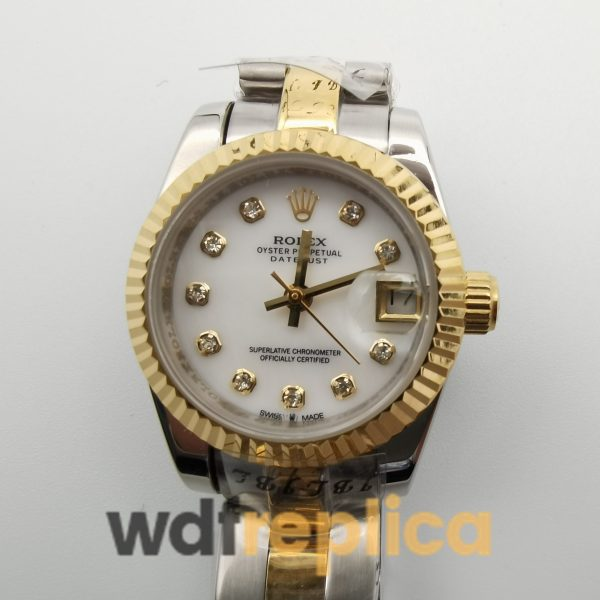Rolex Datejust 116233 36mm Stainless Steel Yellow Gold And White Diamond For Men Watch