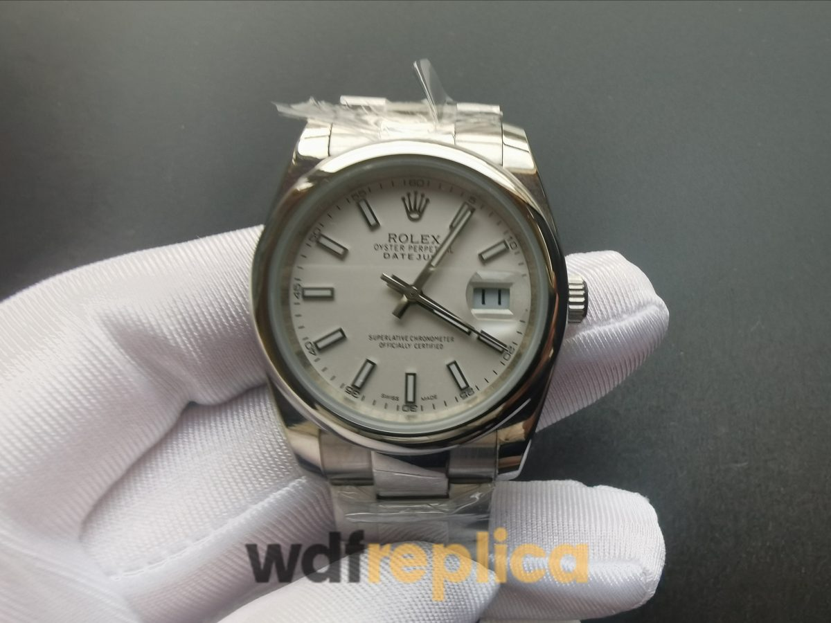 Rolex Datejust 126200 36 Mm Stainless Steel Oyster and Silver For Men Watch