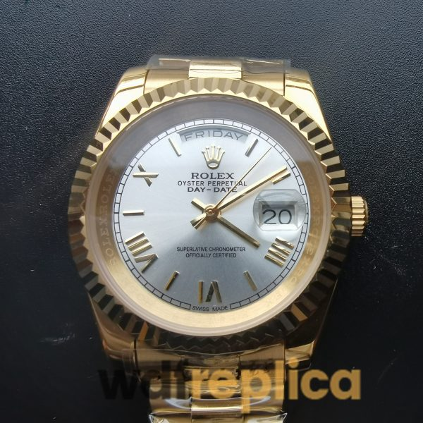 Rolex Day-Date 218238 41mm 18K Yellow Gold And Silver For men Watch