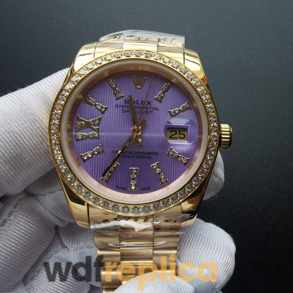 Rolex Datejust 278384 31 Mm Purple Dial Stainless Steel 18k Yellow Gold For Women Watch
