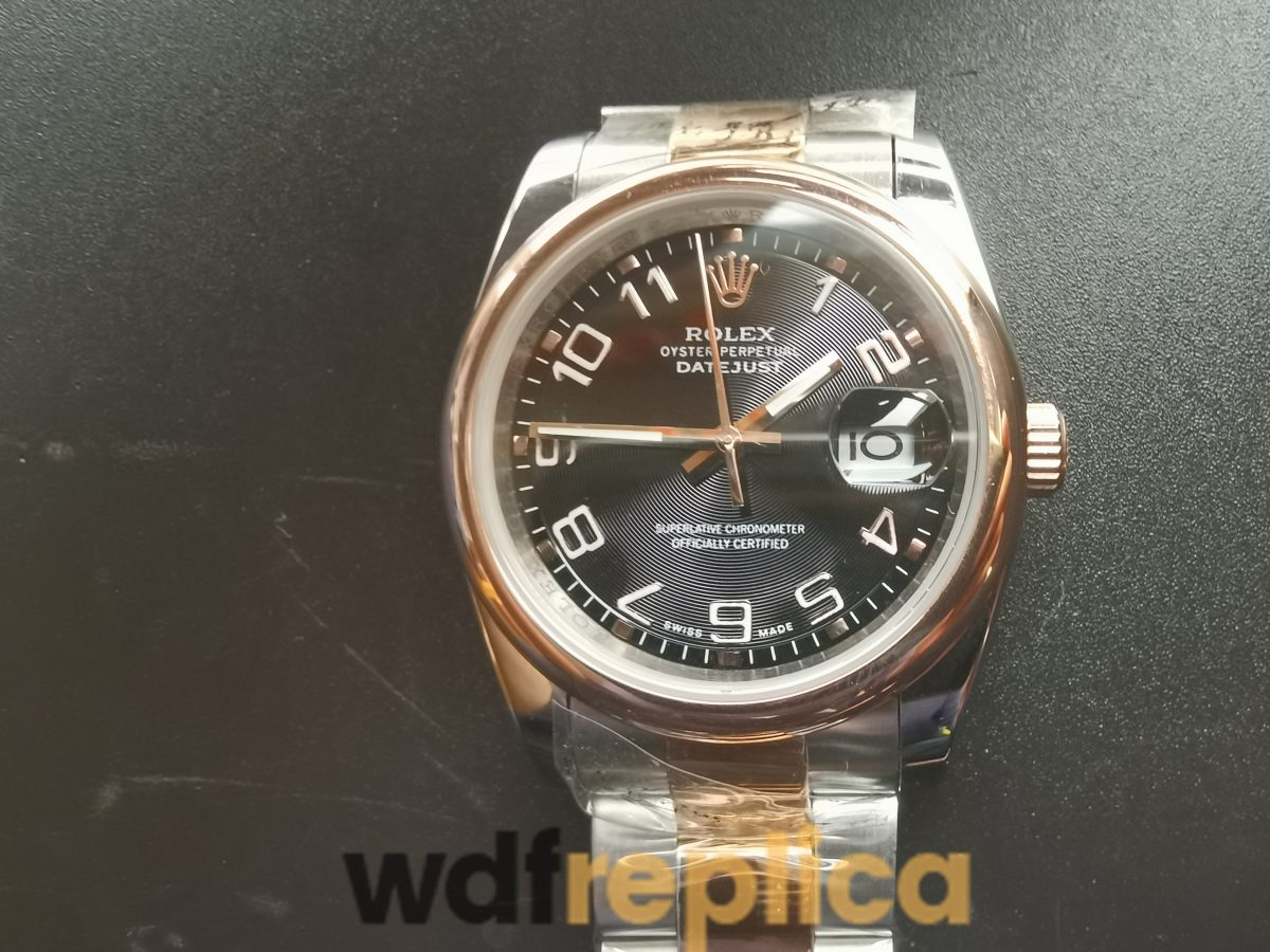 Rolex Datejust 116201 36 Mm Stainless Steel Black Dial For Men Watch