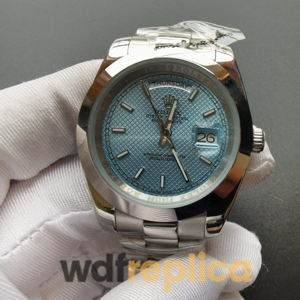 Rolex Day-date 228206 40mm Ice Blue Dial And Platinum For Men Watch