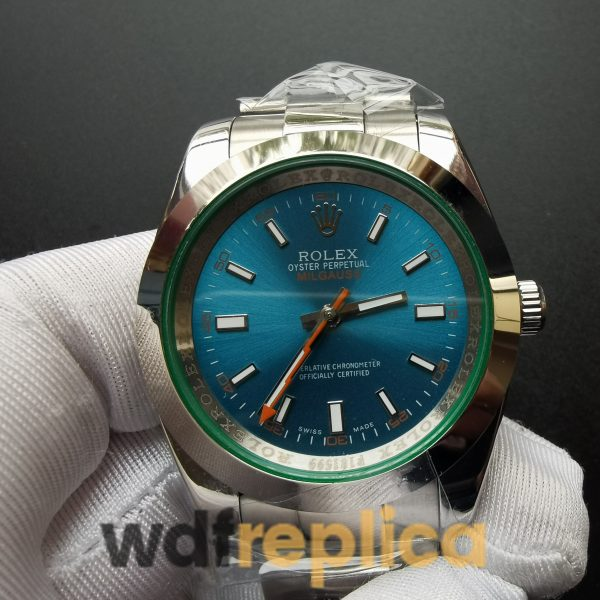 Rolex Milgauss 116400v 40mm Blue,Green Stainless Steel For Men Watch