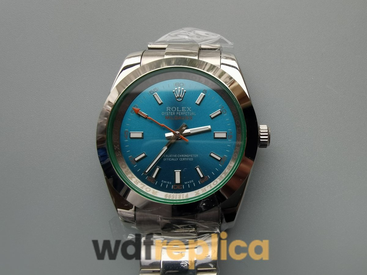 Rolex Milgauss 116400v 40mm Blue,Green Stainless Steel For Men Watch
