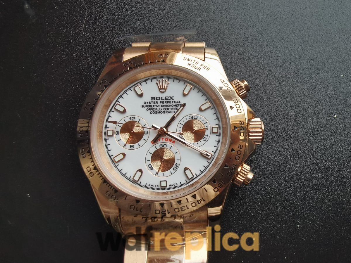 Rolex Daytona 116505 40mm 18k Everose Gold Rolex Oyste And Ivory Dial For Men Watch
