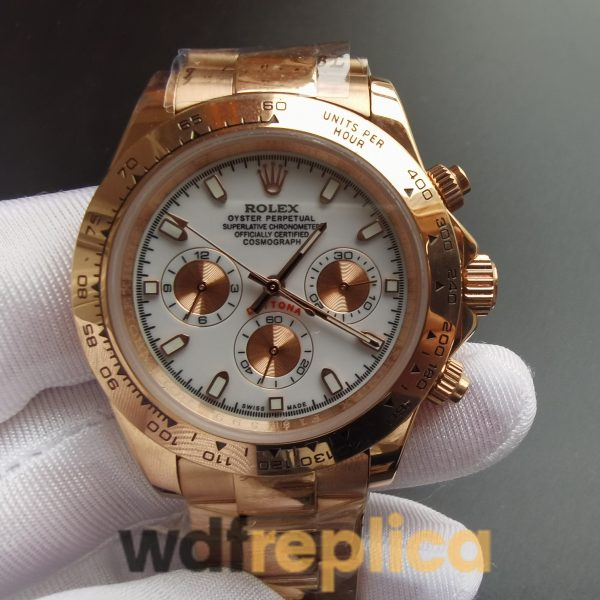 Rolex Daytona 116505 40mm 18k Everose Gold Rolex Oyste And Ivory Dial For Men Watch