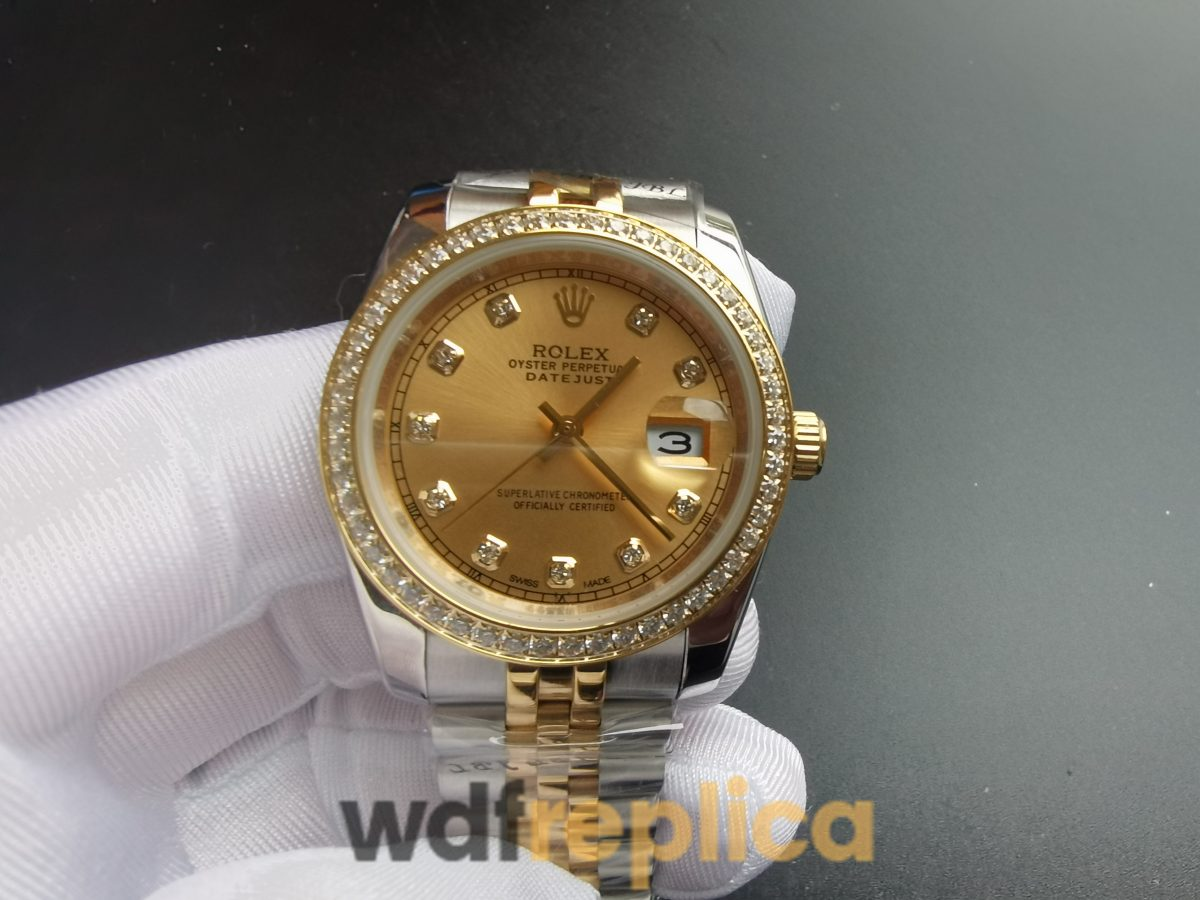 Rolex Datejust 26283rbr 904l Stainless Steel & Yellow Gold Champagne 36mm For Men Watch