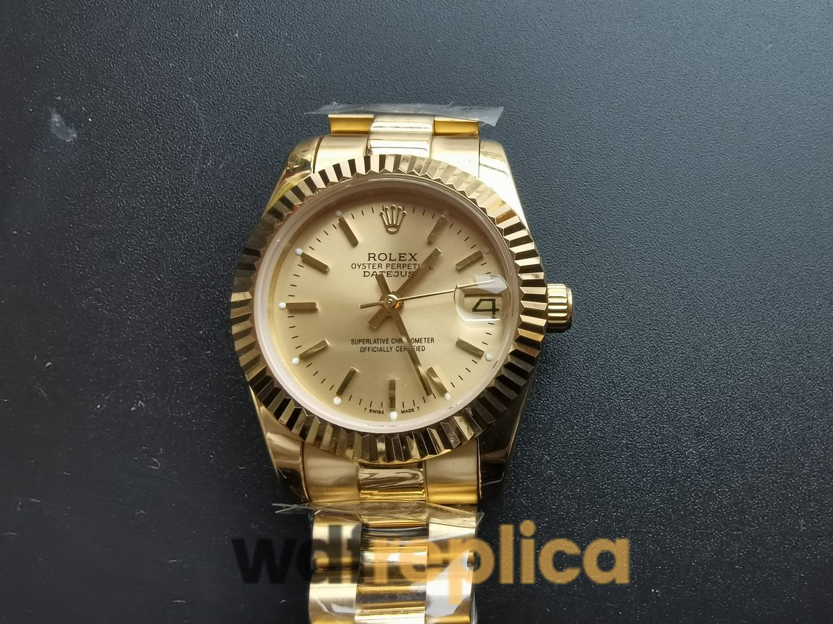 Rolex Datejust 31mm 68278 Yellow Gold And Gold Dial For Women Watch