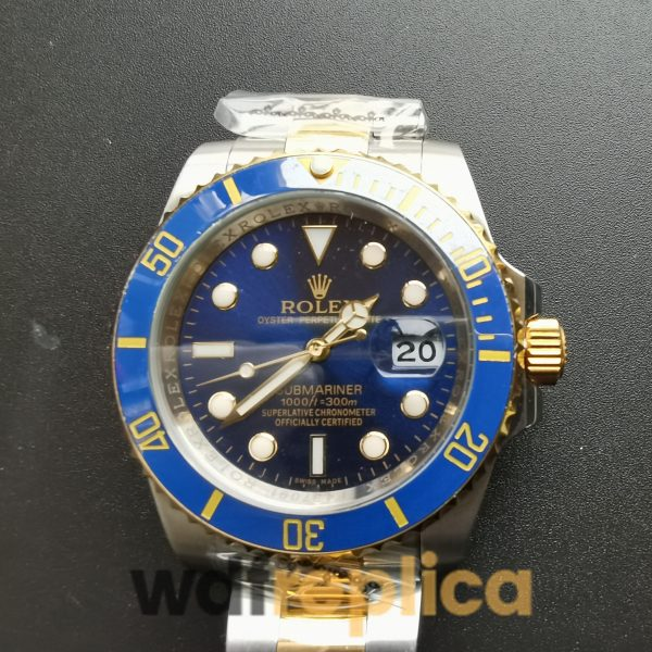 Rolex Submariner 40mm 16613 Stainless Steel Blue Dial For Men Watch