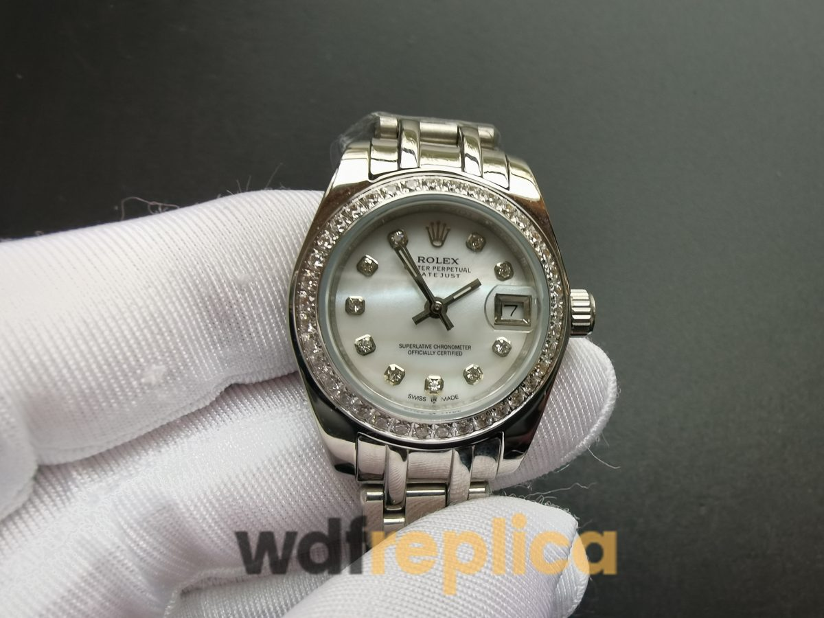 Rolex Pearlmaster 29mm 80299 Stainless Steel White Dial For Women Watch