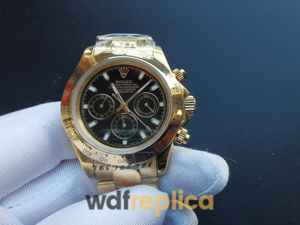Rolex Daytona White Dial And Yellow Gold Domed Case 40mm For Men Watch