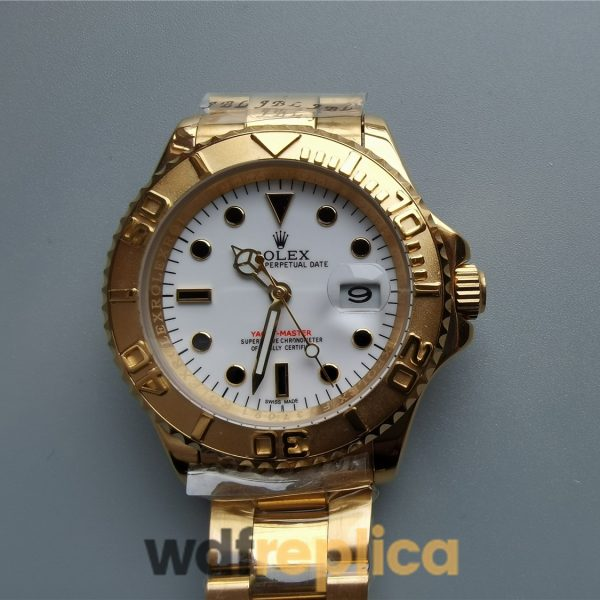 Rolex Yacht-master 40mm 18k Yellow Gold And White Dial For Men Watch
