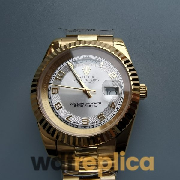 Rolex Day-date 41mm Yellow Gold Ivory / Cream For Women Watch