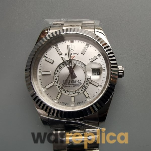 Rolex Sky-dweller 326934 42mm 904l Stainless Steel And White Dial For Men Watch