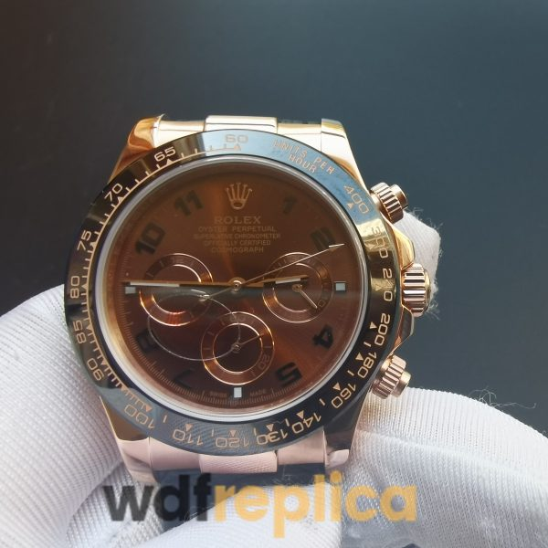 Rolex Daytona 116515 Ln Chocolate Arabic And Rose Gold Case 40mm For Men Watch