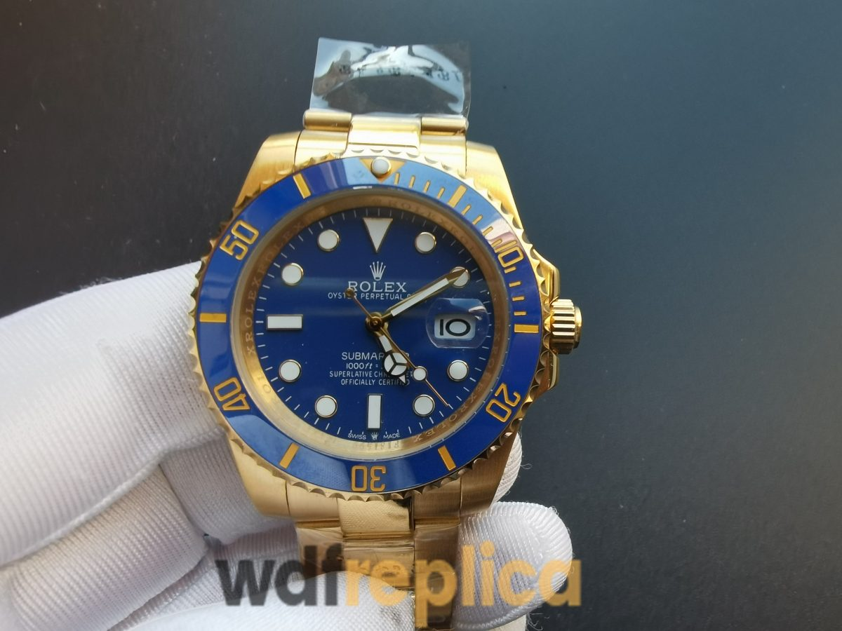 Rolex Submariner 116618lb 40 Mm Blue Dial18kt And Yellow Gold For Men Watch