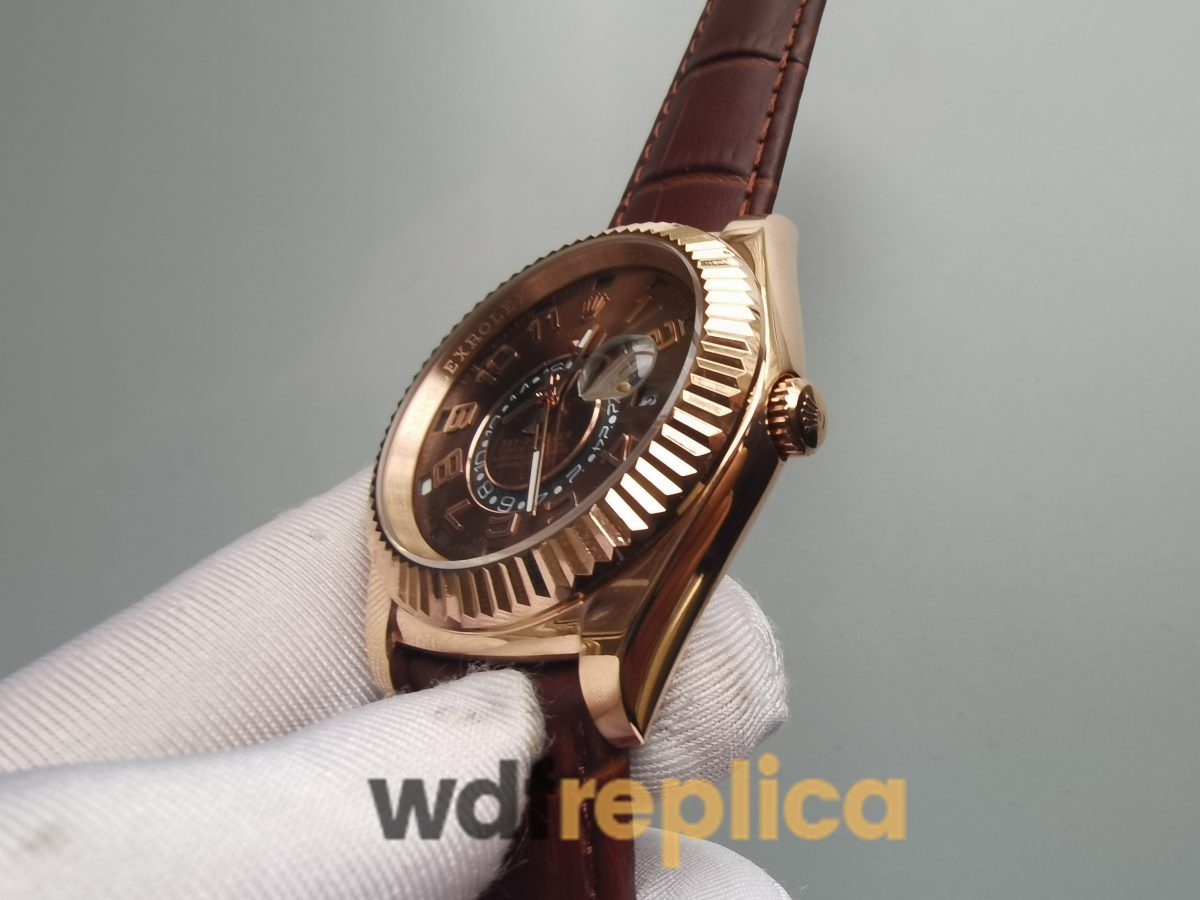 Rolex Sky-dweller 326135 42mm 18k Rose Gold And Chocolate Brown Dial For Men Watch