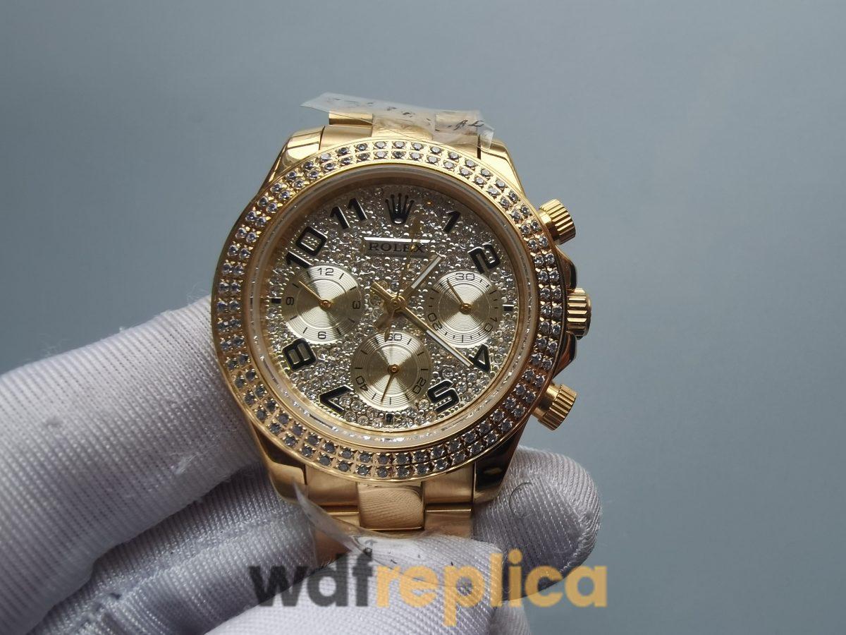 Rolex Daytona Rdt028 35 Mm 18k Yellow Gold And Diamond Dial For Women Watch