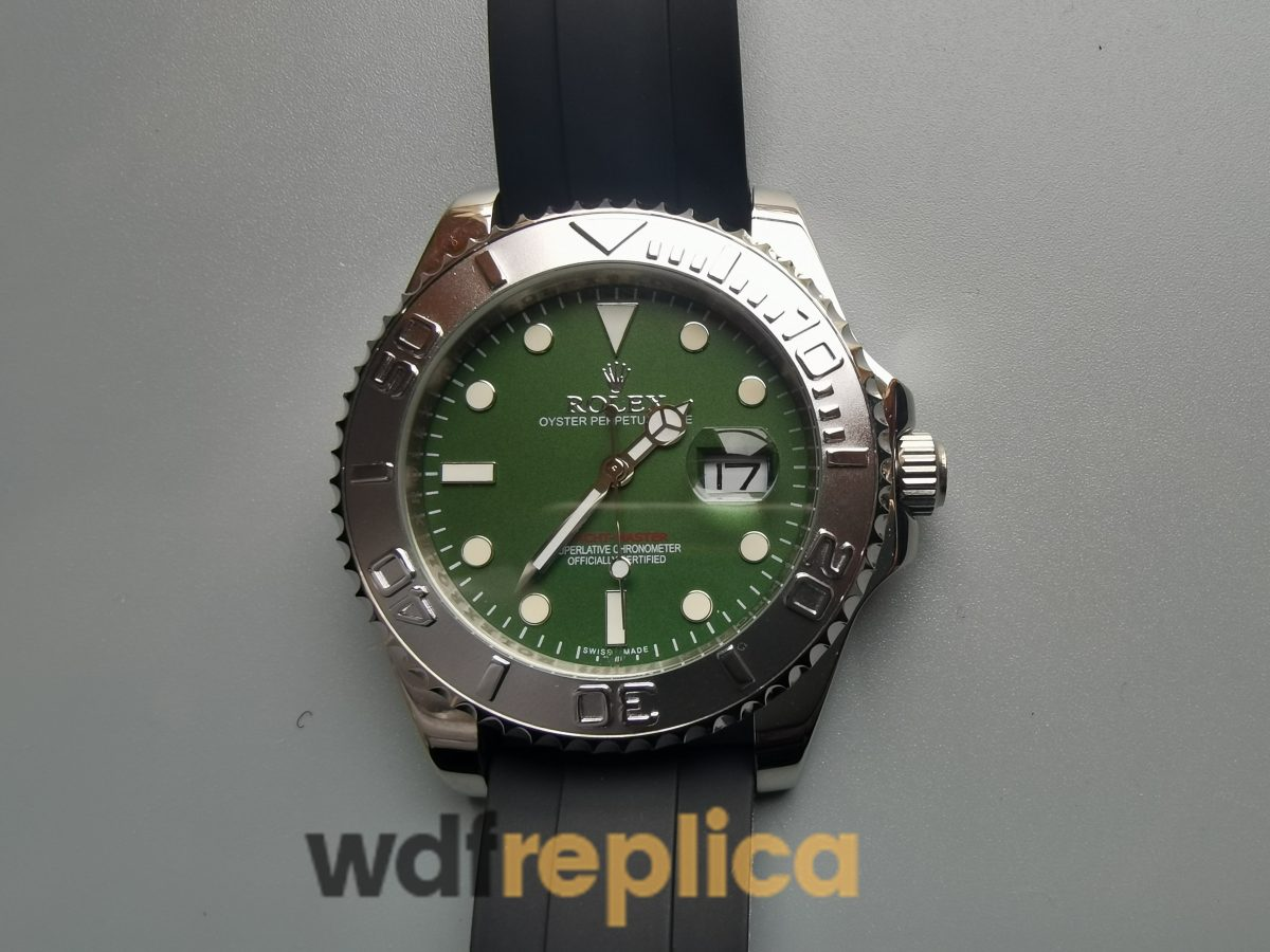Rolex Yacht-master 40mm Rubber Strap And Stainless Steel For Men Watch
