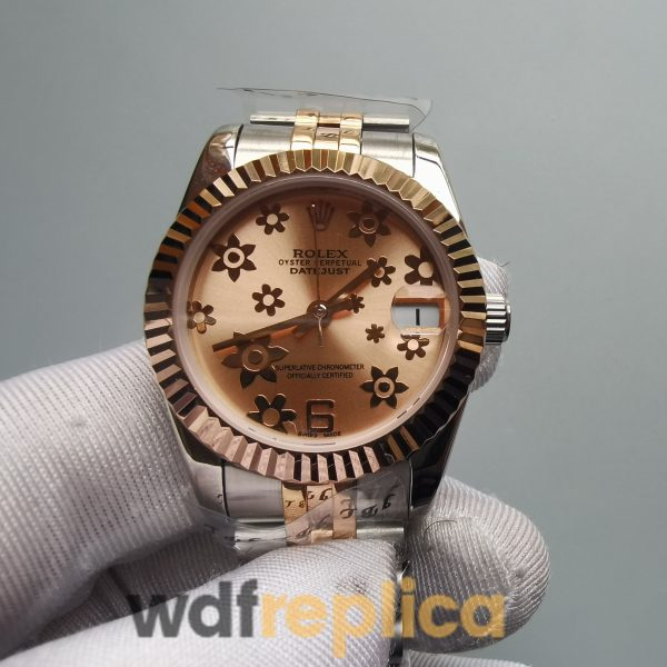 Rolex Datejust 178271 Pink Flower Dial 18k Rose Gold And 31mm For Women Watch